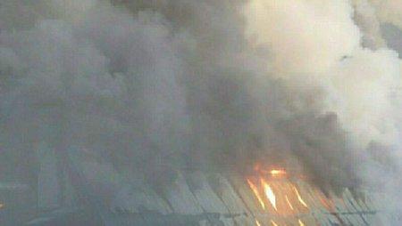 У кого из девелоперов на подмосковной стройке произошел пожар