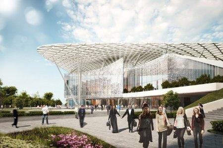 Как оформят фасады концертного зала в «Зарядье»