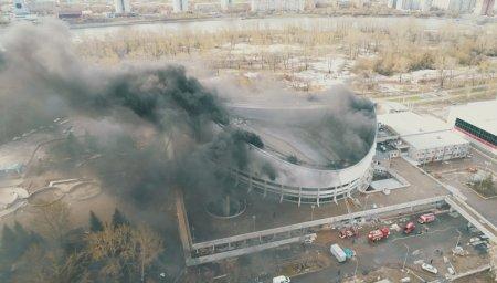 Названа возможная причина пожара в красноярском Дворце спорта