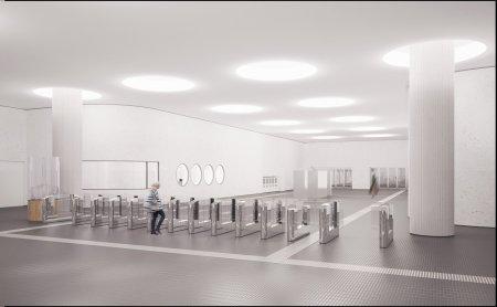 Рабочие начали строить станцию «Терехово» БКЛ метро