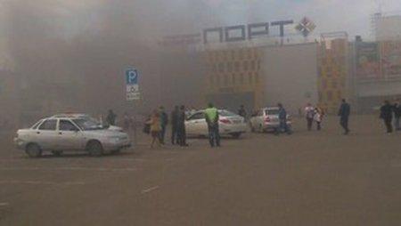 Пожар в казанском ТЦ «Порт» стремительно разрастается