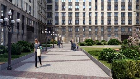 Как благоустроят территорию московского квартала «Искра-Парк»