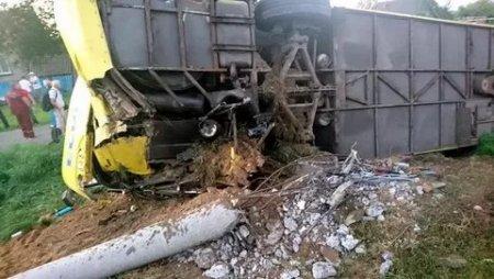 В Белоруссии перевернулся автобус с пассажирами из России