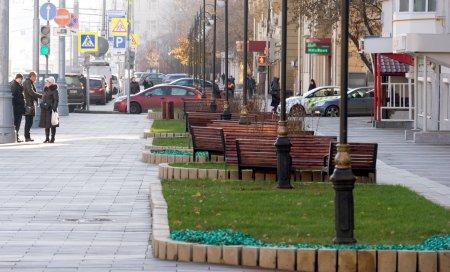 В центре Москвы обустроили новую пешеходную зону