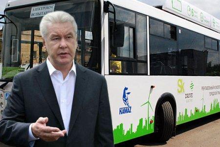 Мэр Москвы сделал месяц проезда в электробусах бесплатным