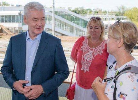 Собянин открыл новую платформу на Курском направлении МЖД