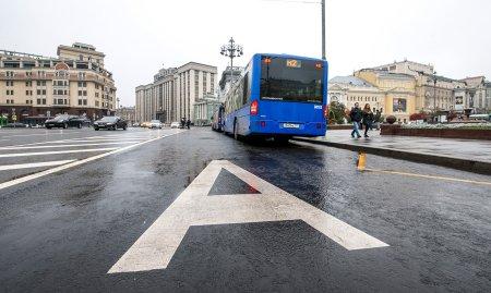 В Москве ввели пять новых выделенных полос