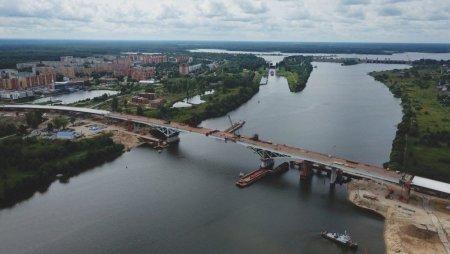 Начались динамические испытания моста через Волгу в Дубне