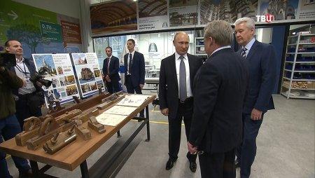 Владимир Путин стал посетителем мастерских «КРОСТ» на ВДНХ