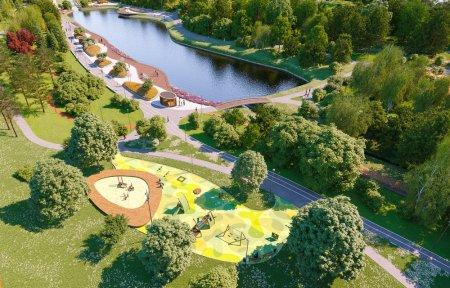 Парк в пойме реки Битцы благоустроен: что изменилось после работ