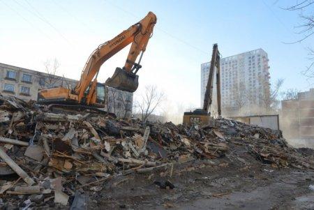 В Хорошево-Мневниках снесено незаконное офисное строение