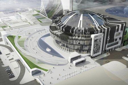 Площадь с часами и концертный зал-трансформер построят в «Москва-Сити»