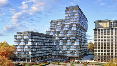 Как украсят фасад офисного здания в МФК «Искра-Парк»