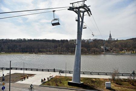 Восстановлена работа канатной дороги от Воробьевых гор до «Лужников»